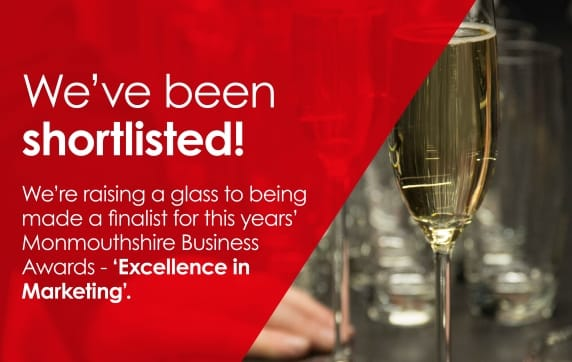 We've been shortlisted for the Monmouthshire Business Awards